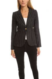 Smythe Patch Pocket Duchess Blazer at Blue and Cream