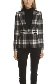 Smythe Plaid Blazer at Blue and Cream