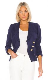Smythe Wrap Blazer in Navy from Revolve com at Revolve