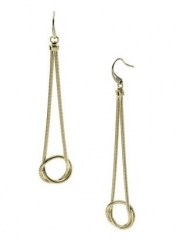 Snake Chain Knot Earrings by Michael Kors at Amazon