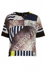 Snake Cutabout Tee at Topshop