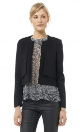 Snake Jacquard Double Layer Jacket at Rebecca Taylor