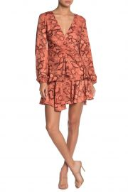 Snake Skin Print Faux Wrap Dress by Do  Be at Nordstrom Rack