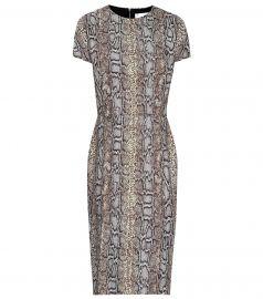 Snake-jacquard dress at Mytheresa