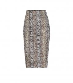 Snake-jacquard pencil skirt at Mytheresa