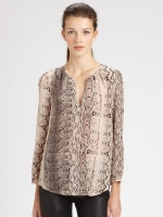 Snake print blouse by Joie at Saks Fifth Avenue