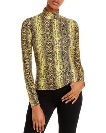 Snakeskin mock neck top by Fore at Bloomingdales