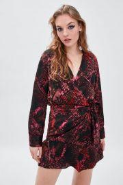 Snakeskin print dress at Zara