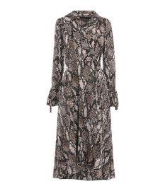 Snakeskin print midi dress at Karen Millen