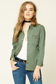 Snap-Button Cotton Jacket   Forever 21 - 2000193634 at Forever 21