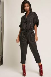 Snap Button Jumpsuit by Forever 21 at Forever 21