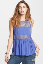 Snap Out Of It Sheer Panel Tank at Nordstrom Rack