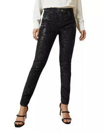 Snaykie Snakeskin-Effect Skinny Jeans at Bloomingdales