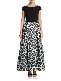 Snow Leopard Print Ball Gown by Theia at Saks Off 5th