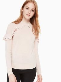 So Foxy Ruffle Studded Sweater at Kate Spade