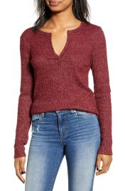 Socialite Long Sleeve Thermal Henley Top   Nordstrom at Nordstrom