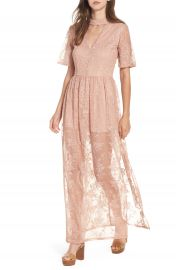 Socialite Choker Lace Maxi Romper at Nordstrom