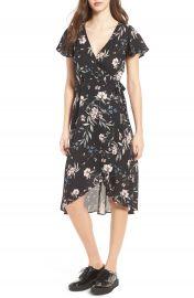 Socialite Floral Print Wrap Dress at Nordstrom