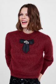 Soft Feel Sweater with Bow by Zara at Zara