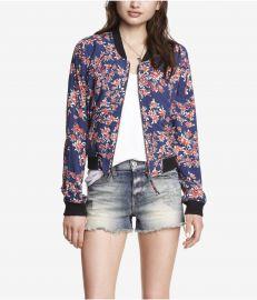 Soft Floral Bomber Jacket at Express