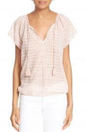 Soft Joie   x27 Dolan B  x27  Print Woven Split Neck Top   Nordstrom at Nordstrom