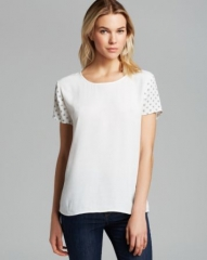 Soft Joie Tee - Hanneli Geo Printed Crepe at Bloomingdales