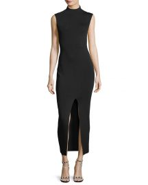 Solace London Mock-Neck Sleeveless Fitted Dress   Neiman Marcus at Neiman Marcus