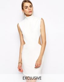 Solace  Solace London Stone Mini Dress With Cut Out Back at Asos