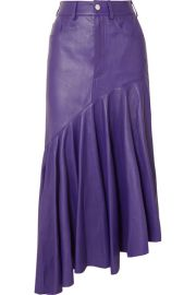 Solace London - Noe asymmetric leather skirt at Net A Porter