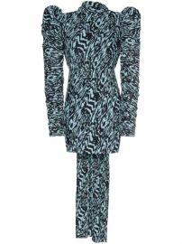 Solace London Marne Patterned Mini Dress - Farfetch at Farfetch