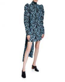 Solace London Marne Printed Plisse Mini Dress at Neiman Marcus