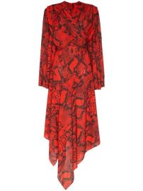 Solace London Nelli snake-print Asymmetric Dress - Farfetch at Farfetch