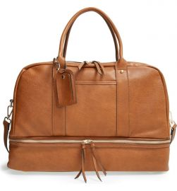 Sole Society Mason Weekend Bag in Cognac at Nordstrom