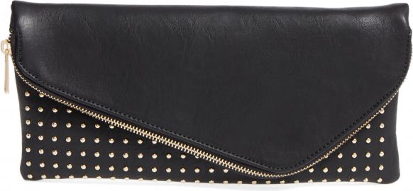 Sole Society Studded Foldover Clutch   Nordstrom at Nordstrom
