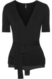 Solicitor wrap-effect stretch-knit bodysuit x at Net A Porter