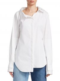 Solid Double Collar Shirt at Saks Fifth Avenue