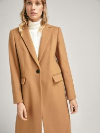 Solid Colored Wool Coat at Massimo Dutti