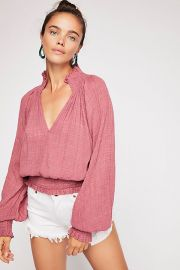 Solid Smocked Top at Free People