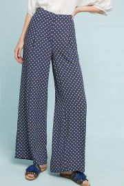 Solstice Print Wide Leg Pants at Anthropologie