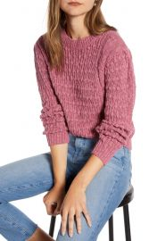 Something Navy Cable Sweater  Nordstrom Exclusive    Nordstrom at Nordstrom