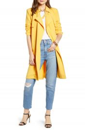 Something Navy Drapey Trench Coat  Nordstrom Exclusive    Nordstrom at Nordstrom