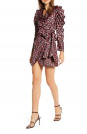 Something Navy Long Sleeve Wrap Minidress  Nordstrom Exclusive    Nordstrom at Nordstrom
