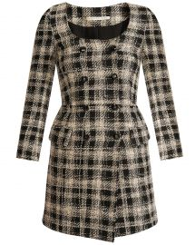 Sondra Double-Breasted Plaid Dress at Veronica Beard