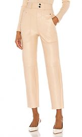 Song of Style Seana Leather Pant in Khaki from Revolve com at Revolve