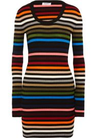 Sonia Rykiel   Striped ribbed-knit mini dress at Net A Porter