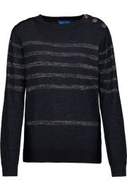 Sophia Breton metallic striped cotton-blend sweater by M.I.H Jeans at The Outnet