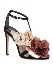 Sophia Webster Jumbo Lilico Floral Velvet Sandals at Neiman Marcus