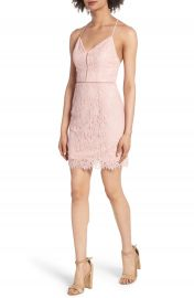 Soprano Lattice Lace Body-Con Dress at Nordstrom