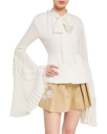 Sorrenta Sorrenta Ruffle-Trimmed Blouse by Alexis at Neiman Marcus