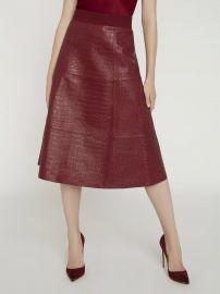 Sosie Croc Leather Midi Skirt by Alice + Olivia at Alice + Olivia